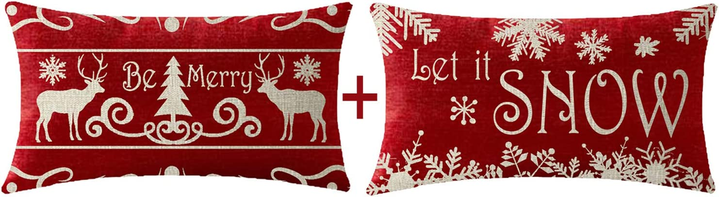 Cotton Embroidery Christmas Pillow covers