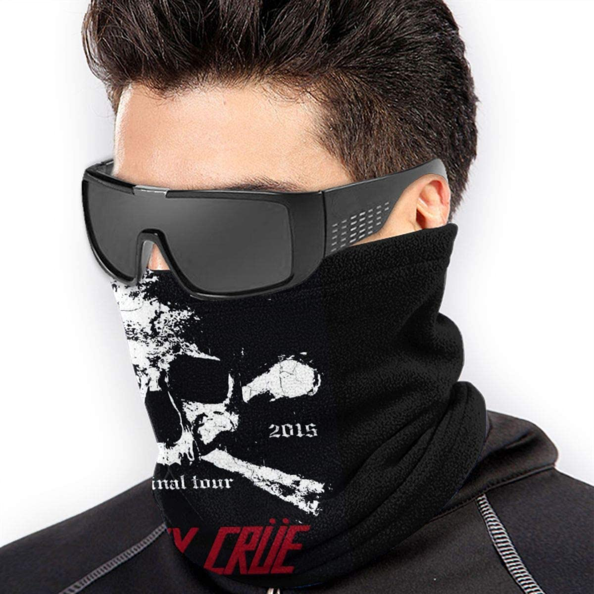 Motley Crue Highly Elastic Warm Microfiber Neck Thermal Mask Scarf Unisex Windproof Suitable For Winter