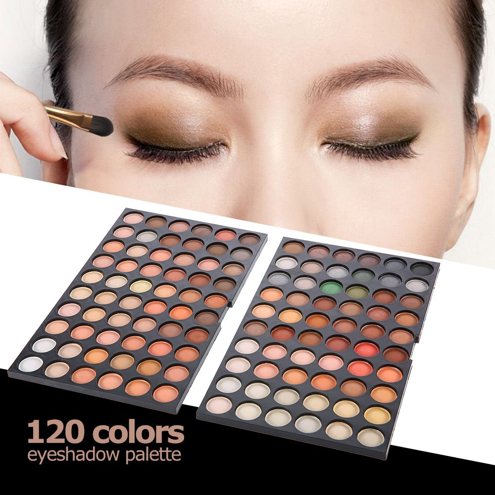 genmine Eye Shadow 120 Colors Eyeshadow Eye Shadow Palette Colors Makeup Kit Eye Color Palette Halloween Makeup Palette Matte and Shimmer Highly Pigmented Pressed
