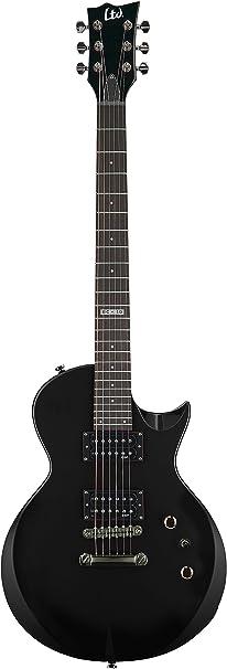 Guitarra Eléctrica negra con funda