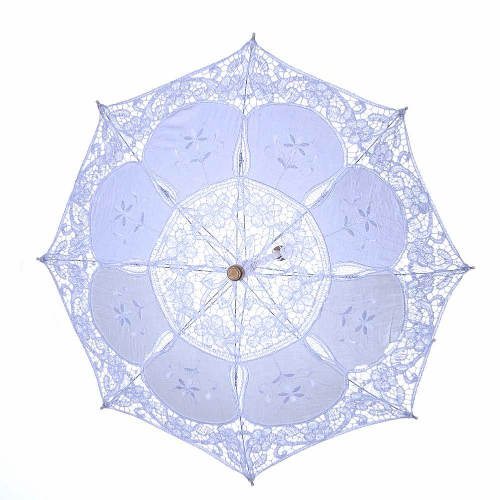 beige kentop sombrilla Punta novia paraguas boda novia dama de honor boda Fotograf/ía Prop paraguas encaje