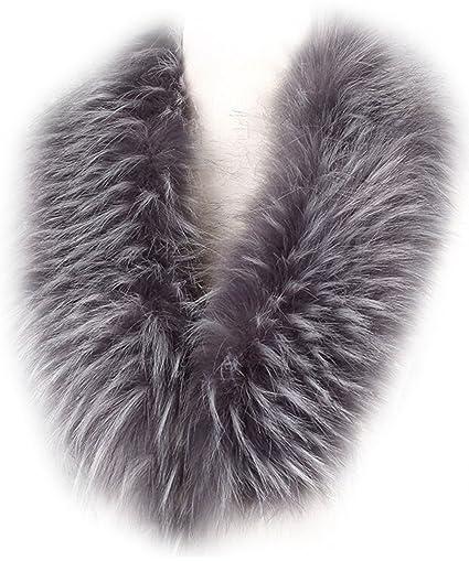 MAGIMODAC Mujer Cuello Bufanda de Piel de Zorro Sintética Falso Pelo para Chaqueta Parka Capucha 70cm-90cm: Amazon.es: Ropa y accesorios