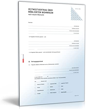 Befristeter Mietvertrag Wohnung Muster Download 2