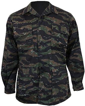 f7fe5ea19dd35 Amazon.com: Mil-Tec BDU Combat Shirt Tiger Stripe size XL: Clothing