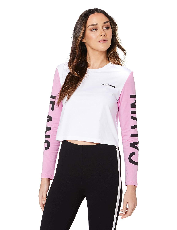 Calvin Klein Damen Pullover Weiß Bianco: : Bekleidung