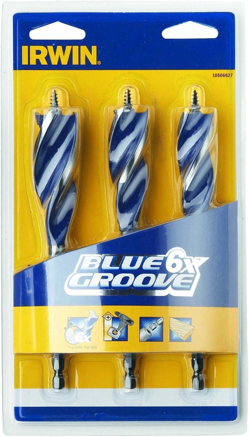 Irwin Blue Groove 10507603 14mm 4X Flatbit Set 8 Pieces