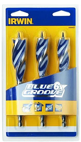 6X Blue Groove Stubby Wood Bit Set 3Pc IRWIN