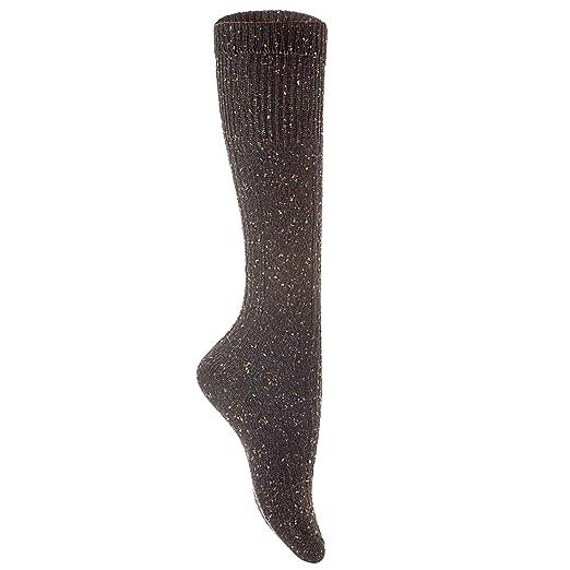 Lian LifeStyle Womens 1 Pair High Crew Wool Socks Size 7-9 (Black)