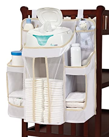 hiccapop nursery organizer and baby diaper caddy hanging diaper storage for baby essentials