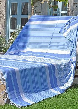 Fouta XXL, Toallas Hammam MELODI | Toalla Turco, ideal para Vacaciones, Playa, Sauna | 100% Algodón | Diseño Exclusivo de ZusenZomer: Amazon.es: Hogar