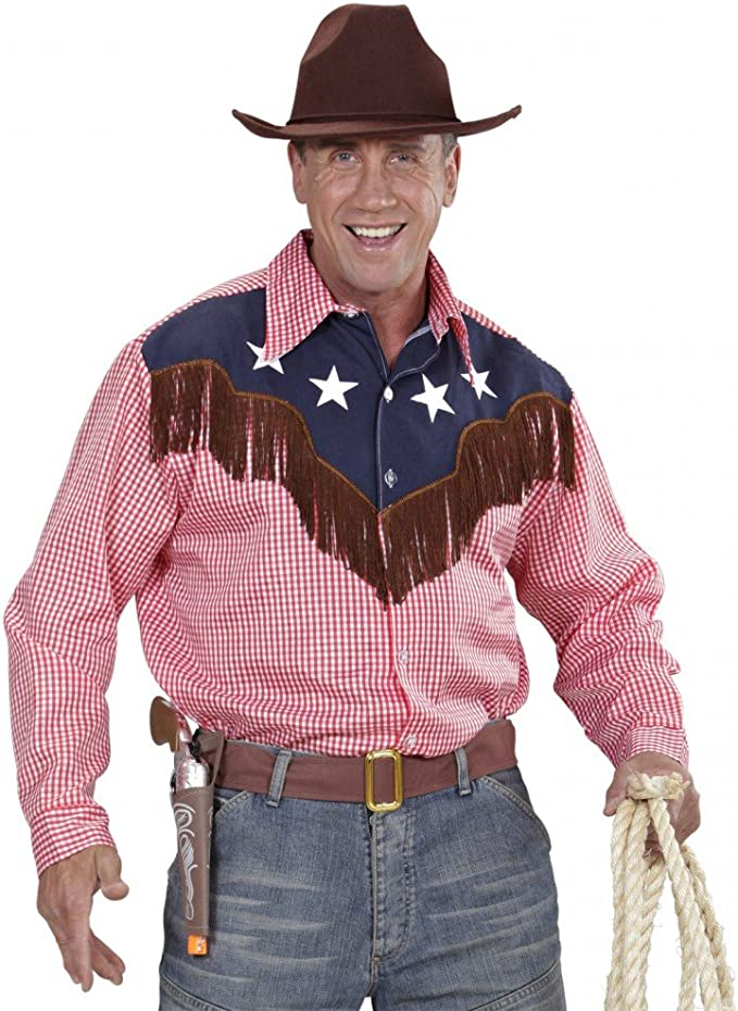 Cowboy Shirt for men with Stars Western Fancy Dress Costume Wild West Wild West Rodeo: Amazon.es: Juguetes y juegos