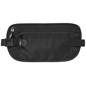 1da99362fcf3 MoKo Secure Travel Money Belt, Undercover Hidden RFID Blocking Travel  Wallet, Anti-Theft Passport Pouch Fanny Pack