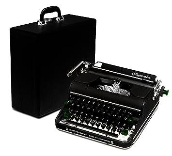 Restaurado Negro 1951 Olympia SM1 - Vintage Portátil Manual Máquina de escribir con funda (cvt-770) Modelo similar a Olympia SM3 de Luxe: Amazon.es: ...