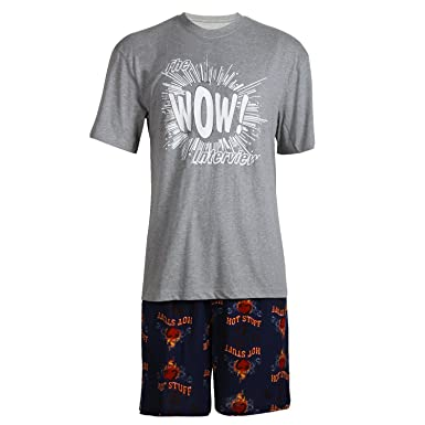 14594a4d138 Godsen Men s Summer Short Sleeve Sleepwear Pajama Shorts Set at ...