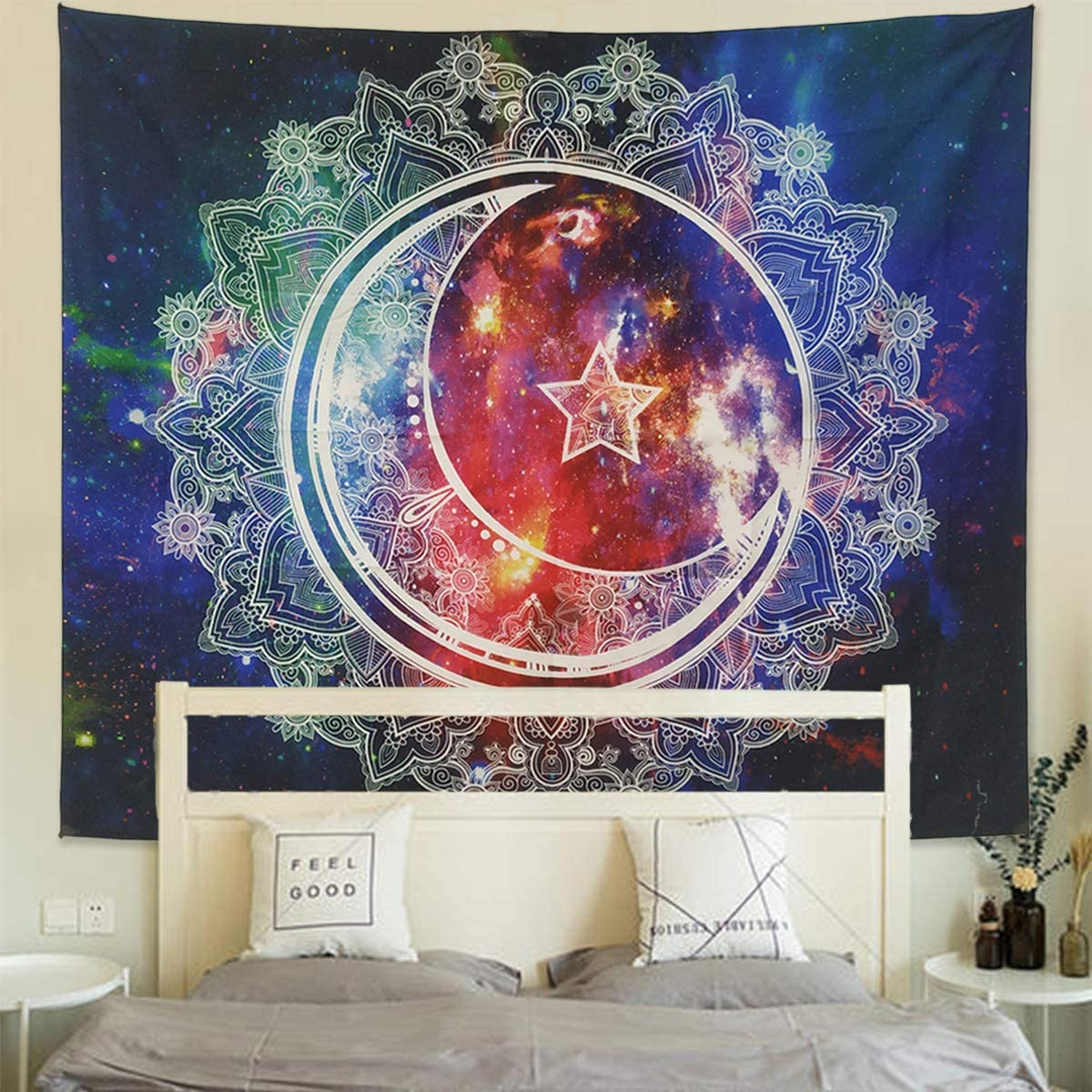 Psychedlic Hippie Mandala Tapestry Wall Hanging Blankets Living Room Home Decor