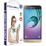 CELLBELL® Tempered Glass Screen Protector For Samsung Galaxy J3 (2016) With FREE Installation Kit