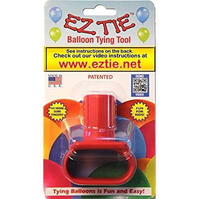 EZ Tie - Balloon Tying Tool for Party Balloons- Partys Supplies - Works for Helium Balloons with Ribbon - Makes Balloon Arches: Toys & Games