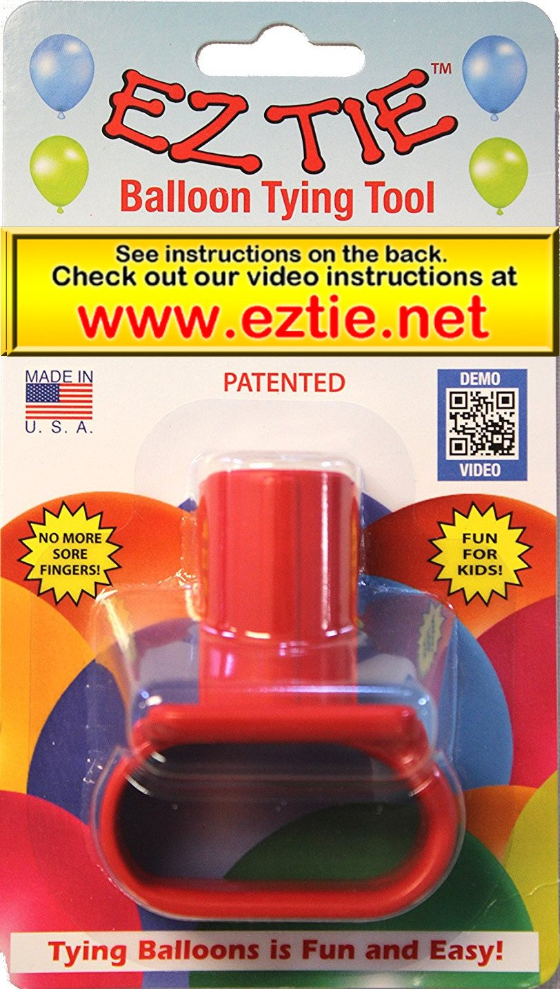 EZ Tie Balloon Tying Tool for Party Balloons- Partys Supplies - Works for Helium Balloons with Ribbon - Makes Balloon Arches EZ Tie company SYNCHKG094128