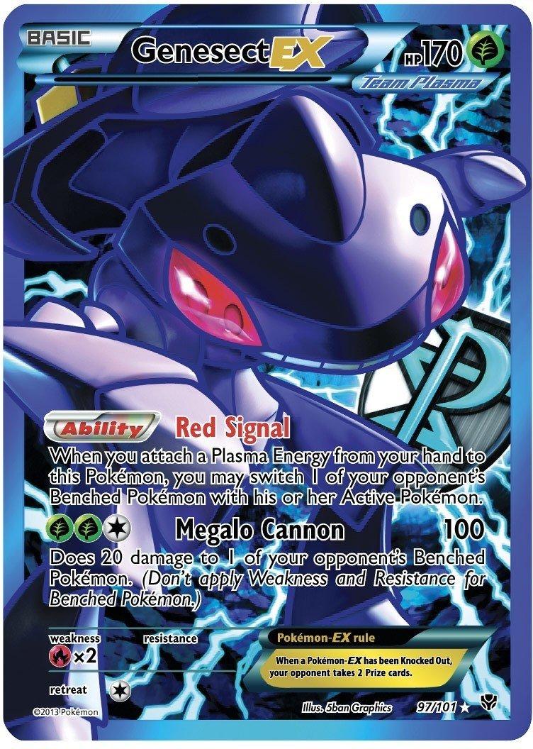 amazon com genesect ex plasma blast 97 101 full art pokemon card