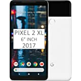 """Pixel 2 XL Phone (2017) by Google, 128GB G011C, 6"""" inch Factory Unlocked Android 4G/LTE Smartphone (Black & White) -"""