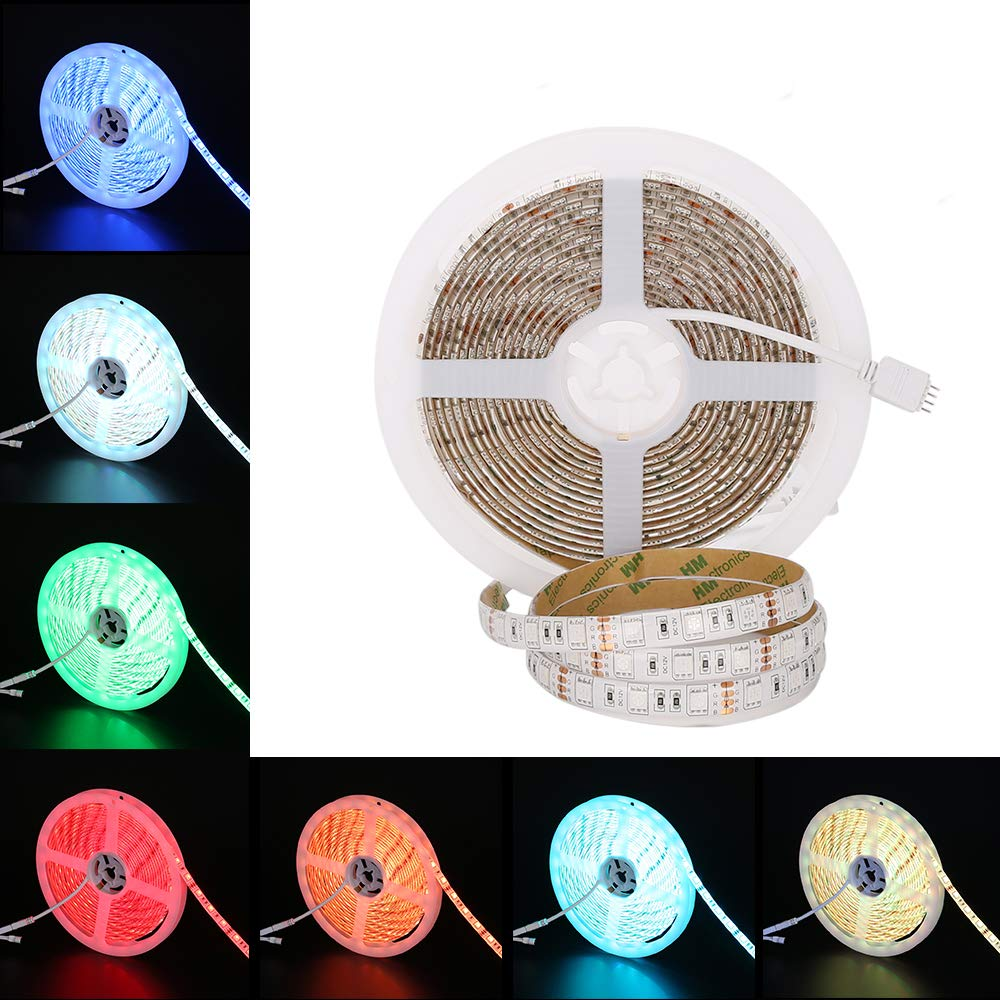 szzccc,Led Strip Light,Waterproof Strip Lamp,LED Flexible Strip Lights LED Tape Multi-Colors, Without Power Supply and Remote for Bedroom,Bar,Party and Decoration.