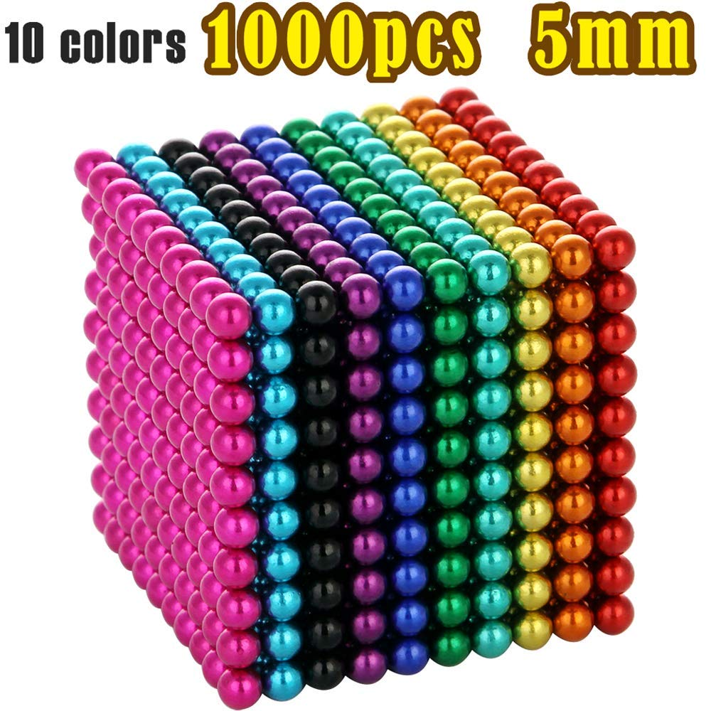 MENGDUO 216pcs 5mm Magnetic Cube Magnets Sculpture Building Blocks Toys for Intelligence Learning -Office Toy & Stress Relief for Adults (1000pcs) by MENGDUO