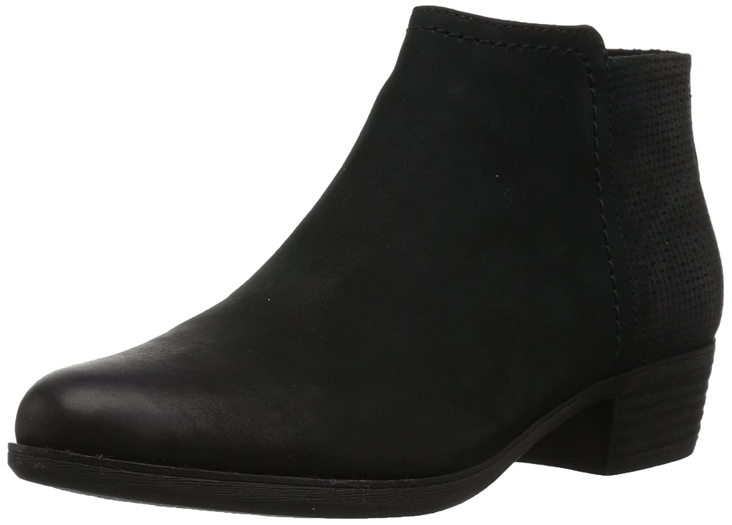 Rockport Women's Vanna 2-Part Ankle Bootie B01MUW3SI1 11 B(M) US|Black Nubuck