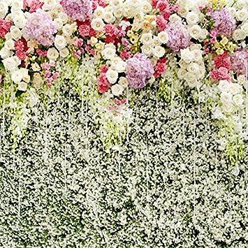 Amazon Com Ofila Romantic Flowers Backdrop 8x8ft Wedding Bride