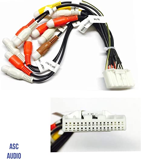 Amazon.com: ASC Car Stereo RCA Audio Video Wire Harness Plug for select  Pioneer / Premier 32 Pin Aftermarket DVD Nav Radio- CDP1335, CDP1304  CDP1540, AVIC-X920BT,X920 AVIC-Z120BT X850BT X8510BT X950BH Z150BHAmazon.com
