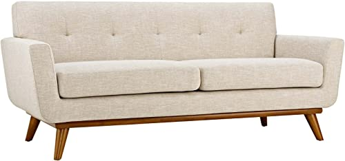 Modway Engage Mid-Century Modern Upholstered Fabric Loveseat - a good cheap living room sofa