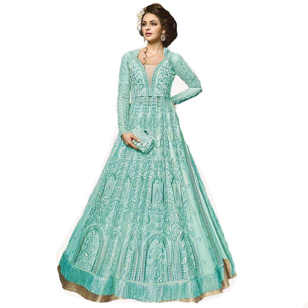 ziya Indian Wear Anarkali Suit Party Wear Zoya 2 (Sky Blue, XS-36)