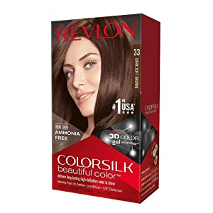 Revlon ColorSilk Beautiful Color, 33 Dark Soft Brown 1 ea (Pack of 6)