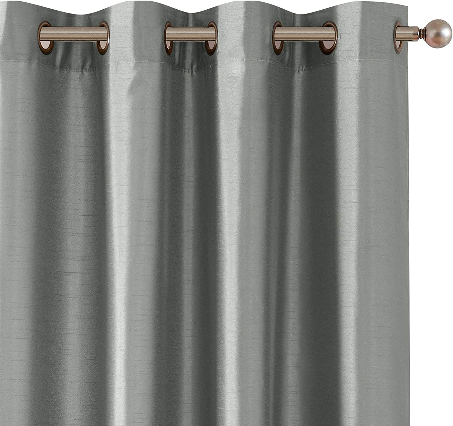 Champagne Brown Satin Ribbon Silk Curtain Panels 52x84 Grommet Drapes Home And Living Bedroom Decor Housewares Window Treatments Blackout