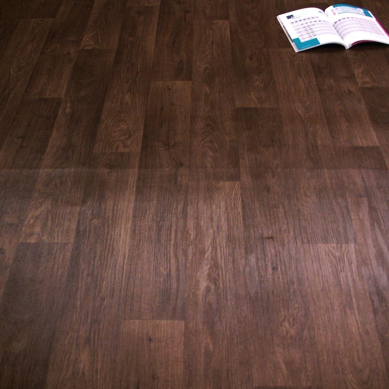 Breite: 200 cm x L/änge: 400 cm 11,90 /€ p. m/² PVC Bodenbelag Rustikal Dunkel mit Aufdruck