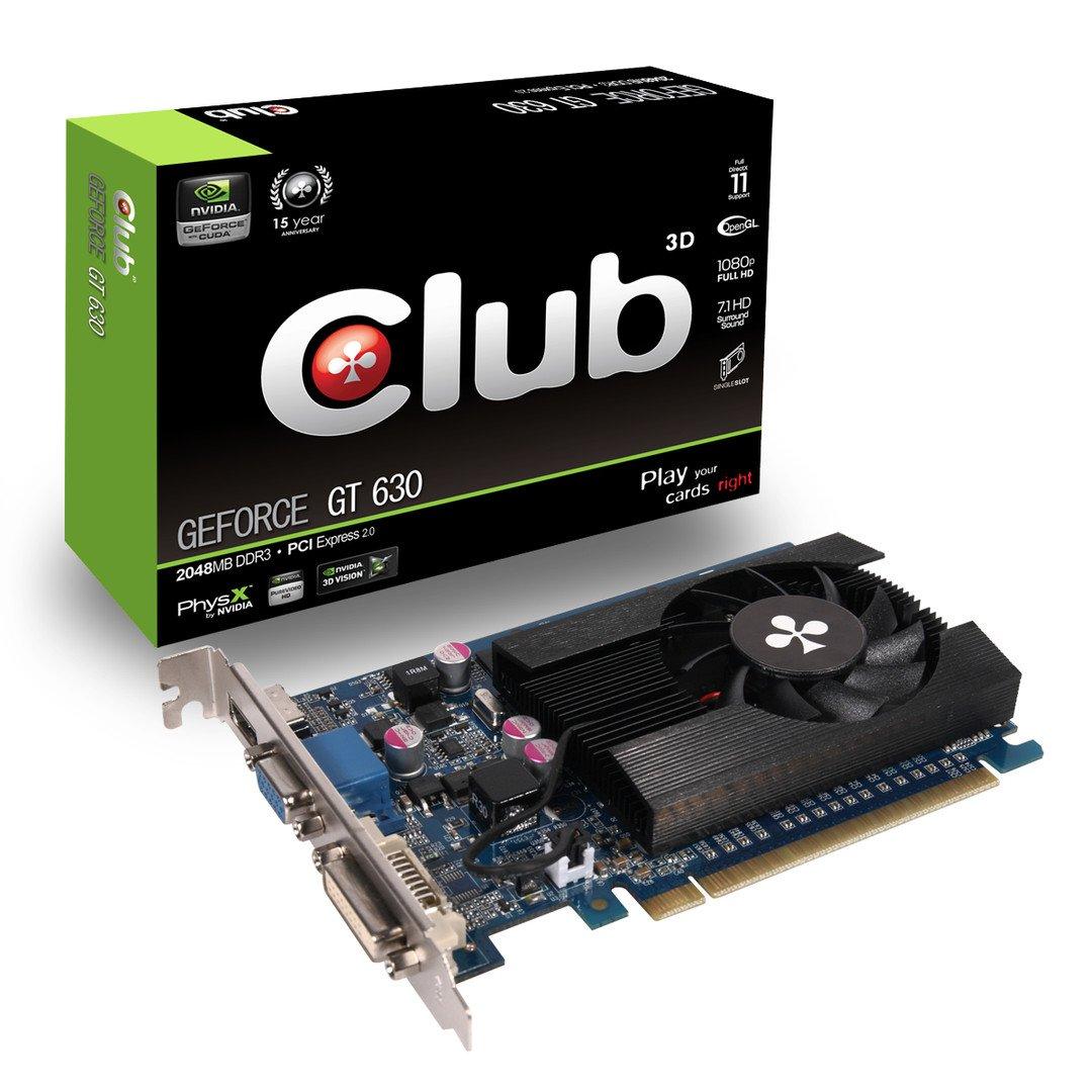 Club 3D CGNX-G636 - Tarjeta gráfica VGA GeForce GT 630 (2 GB DDR3, 128 Bits, 1333 MHz, VGA/HDMI/DVI)
