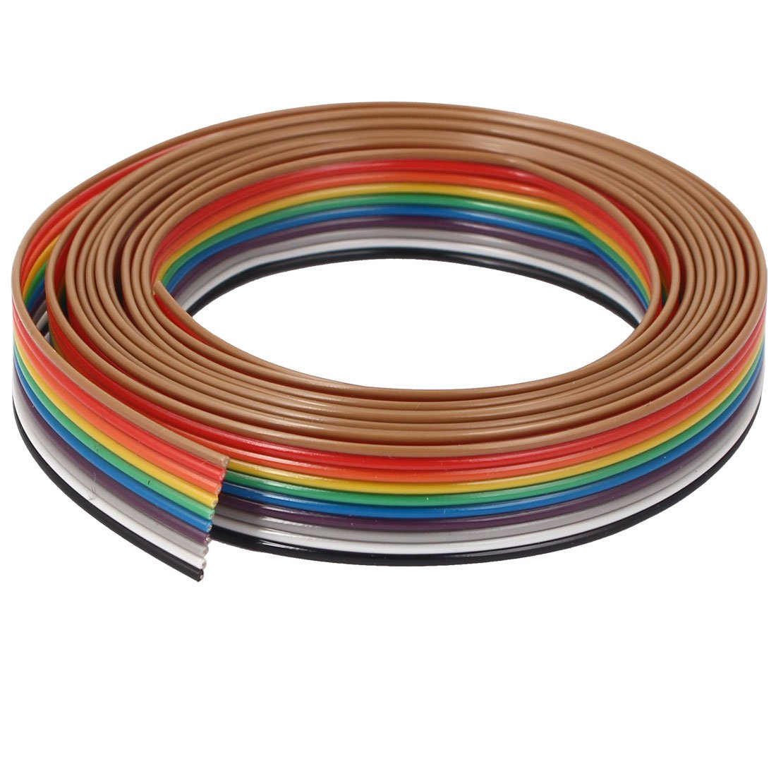 6.2 1.9 m Uxcell Flat Ribbon IDC Cable Wire Rainbow Cable 10 Way 10 Pin