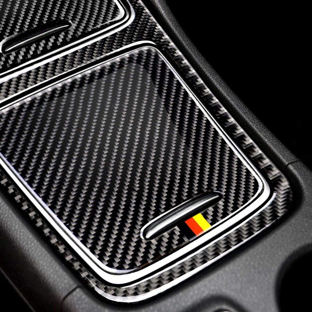 Republe Fibra di Carbonio accendisigari Sostituzione Coperchio del Pannello Copertura Decorativo Trim//Bagagli di Caso per la Mercedes GLA//CLA A Classe
