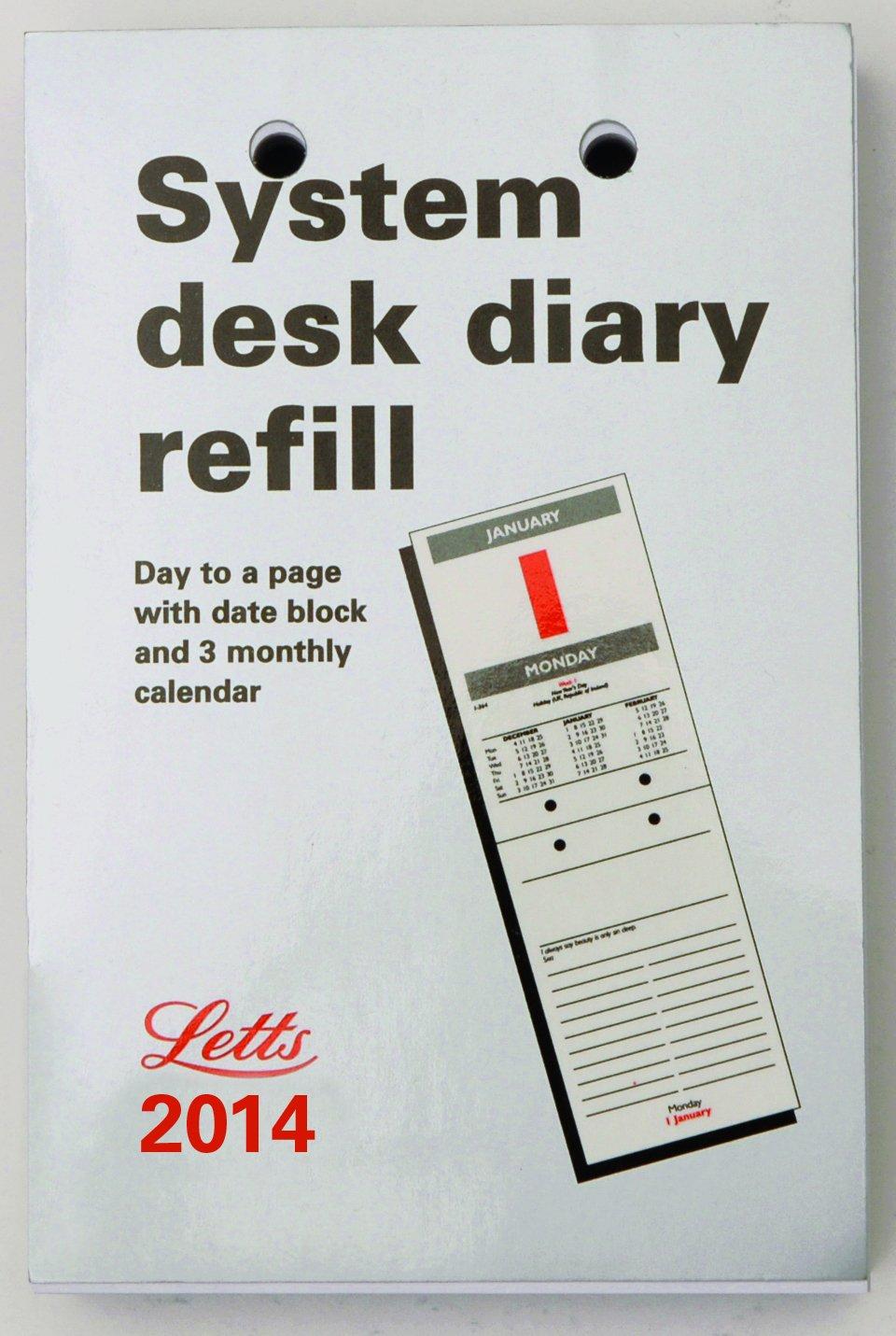 Letts SDR - Recambio para agenda de mesa 2014 (página por día, en ...