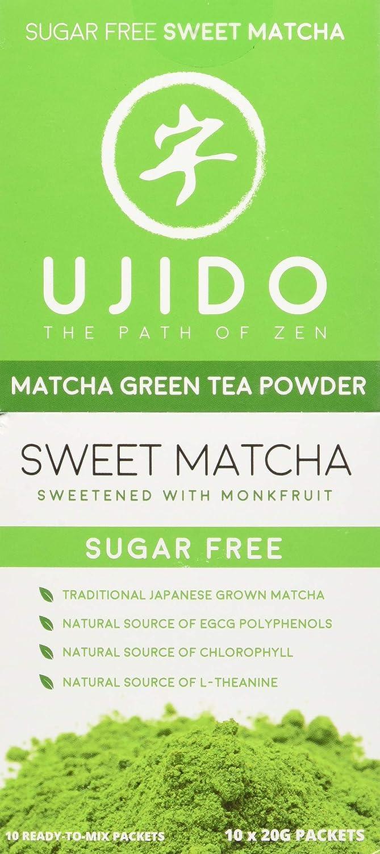 1ed93b1c27ba Amazon.com : Ujido Japanese Monk Fruit Sweet Matcha (7.05 Ounce (200g)) :  Grocery & Gourmet Food