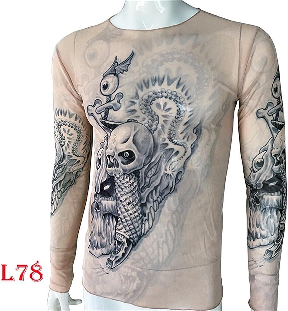 Uniqstore Deporte Manga Larga Ciclismo Fitness Imprimir Camiseta Esqueleto Tops Tatuaje Talla Grande Camiseta Casual Unisex Mujer Hombre Camiseta: Amazon.es: Ropa y accesorios