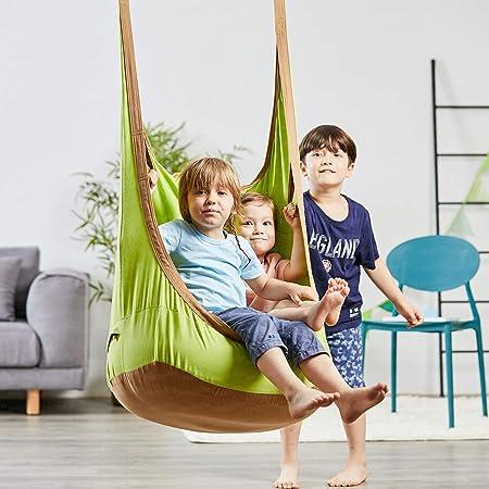 Happypie Frog Hanging Pod Swing Seat Indoor And Outdoor Hammock For Children To Adult 100 Cotton Green Amazon Co Uk Garden Outdoors