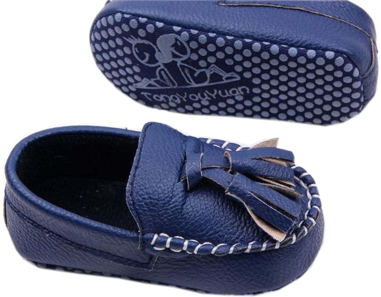 bettyhome Unisex Baby Newborn Navy Blue Tassel Soft Sole Infant Toddler Prewalker Sneakers 0-1 Year