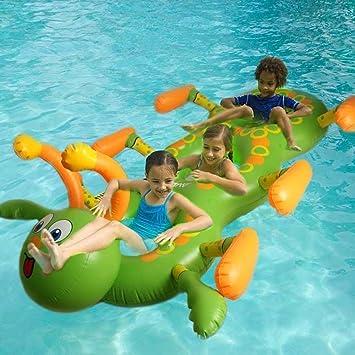 JTT verano 3 persona inflable natación barco orugas piscina ...
