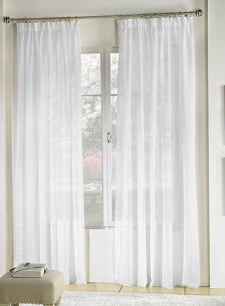 Rioma Brisa - Cortina visillo, Blanco, 400 x 270 cm: Amazon.es: Hogar