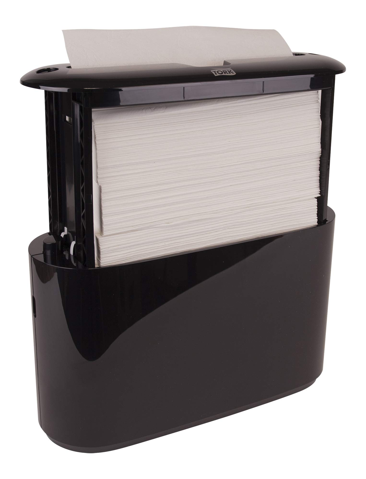 Tork Xpress 302028 Countertop Multifold Hand Towel Dispenser, Plastic, 7.92'' Height x 12.68'' Width x 4.56'' Depth, Black (Case of 1) For use with Tork MB550A, MB640, MB540A by Tork (Image #6)