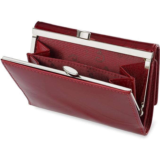 ad2718e884500 Leder Portemonnaie Pierre Cardin Damengeldbörse mit Bügelverschluss   Amazon.de  Koffer