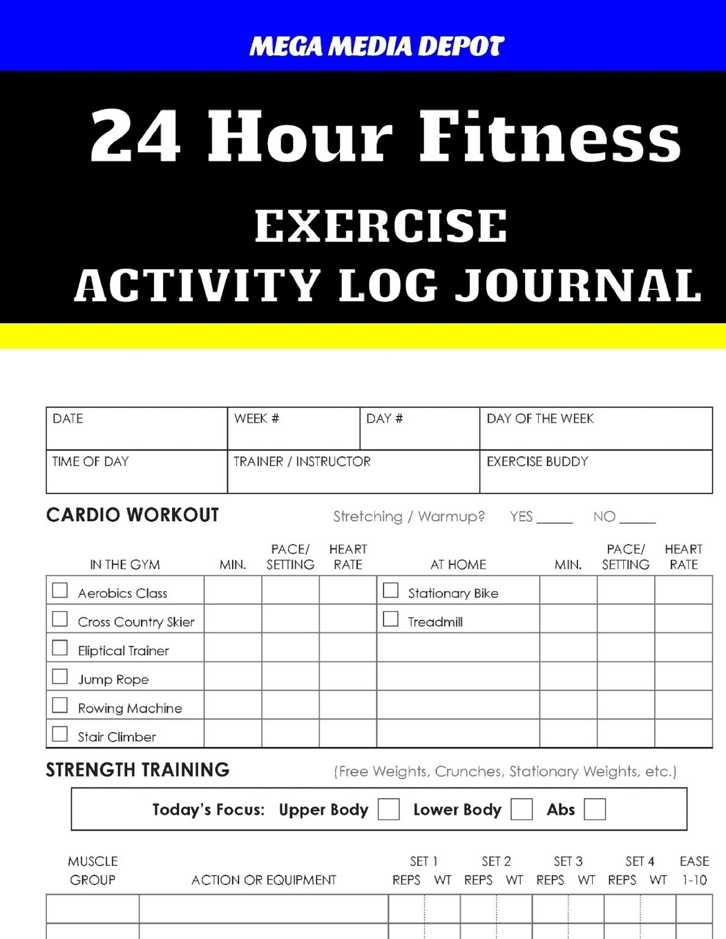 Download 24 Hour Fitness Exercise Activity Log Journal pdf