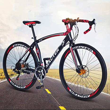 HUWAI Las Bicicletas de montaña Bicicletas de Doble Disco de Freno ...