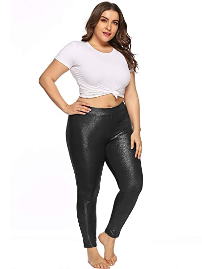 e1337868 ESPRLIA Women's Plus Size Girls High Waisted Leggings Sexy Skinny Stretchy  Pants for Causal, Club, Night Out