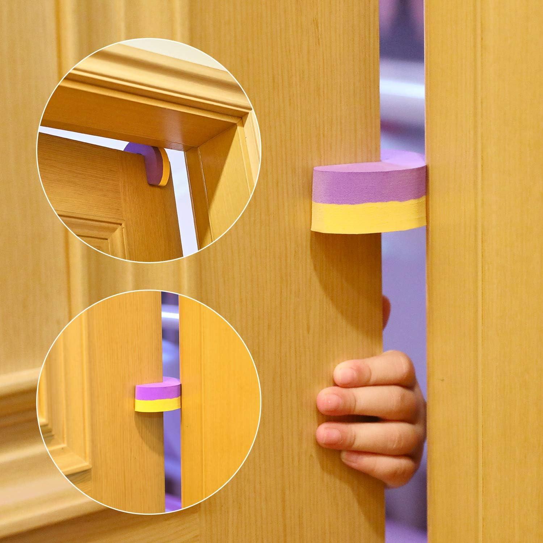 Amortisseur Bloque Porte Lot de 5 Tonsmile Bloc Porte S/écurit/é B/éb/é Stop-porte Mousse Bloc-porte Anti Pincement protection Doigt Enfant Securite